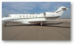Aeronave moelo Cessna Citation X.